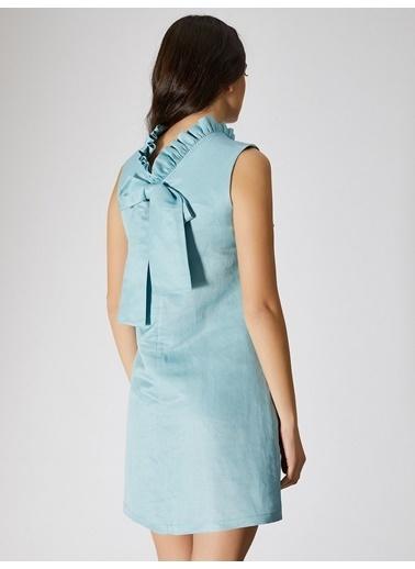 Vekem-Limited Edition Elbise Turkuaz
